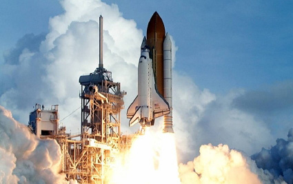 shuttle-lancering