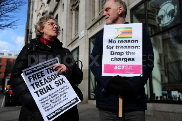 Solidariteitsprotest met de Zimbabwaanse socialisten, Londen, 11 maart 2011