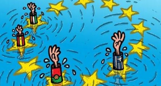 Kern en periferie in de Eurozonecrisis