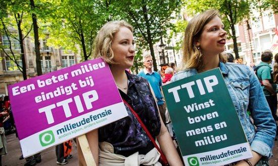 Protesten tegen TTIP in 24 steden op 28 mei jl. (bron: Milieudefensie.nl)