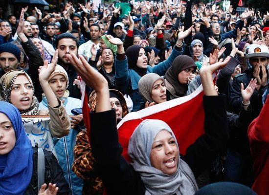 Protest van de 20 februari beweging in Casablanca, 20 november 2011