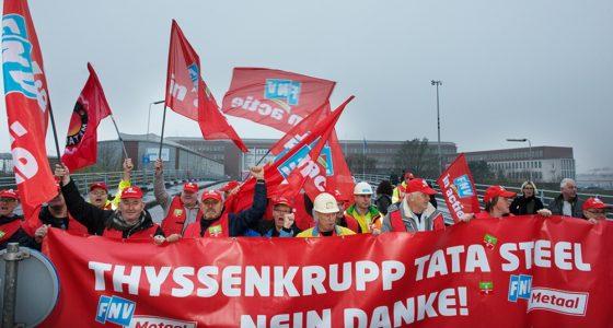 Hoogovens: actie tegen dreigend banenverlies