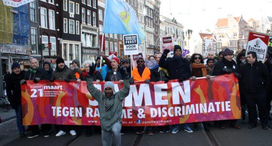 Hoge opkomst bij strijdbaar antiracismeprotest