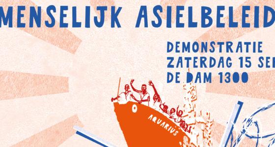 Demonstratie: een menselijk asielbeleid nu!