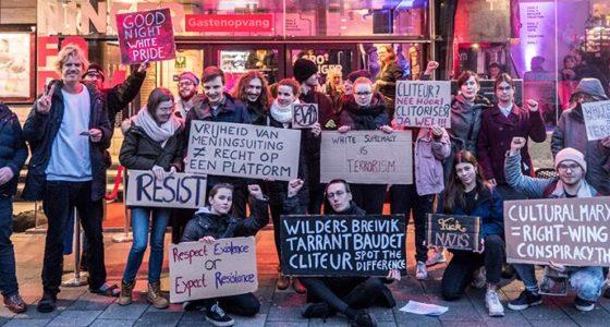 Protest tegen Paul Cliteur in Groningen