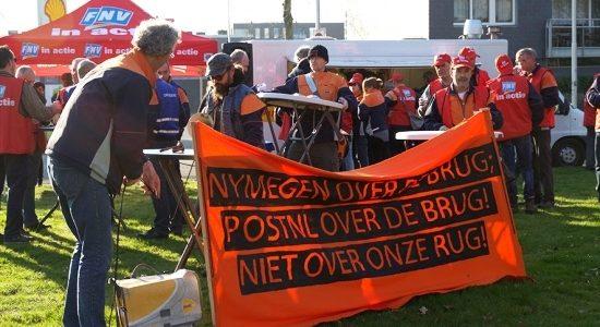 Bezorgers PostNL in actie voor betere cao