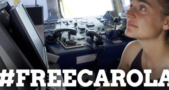 Vrijheid voor Carola!  Stop de criminalisering van reddingen op zee!