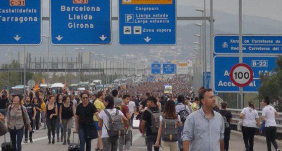 Massaal verzet tegen politieke veroordelingen van Catalaanse activisten