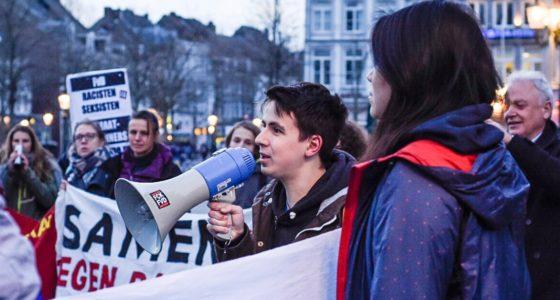 Maastrichtenaren de straat op in solidariteit met vluchtelingen