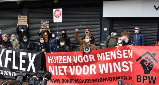 Woonprotest: 'We stoppen niet tot er verandering is'